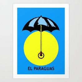 El Paraguas Loteria Mexican Pop Art Art Print
