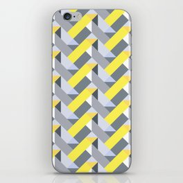 Herringbone geometric yellow iPhone Skin