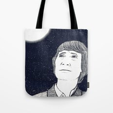 Man and Moon Tote Bag