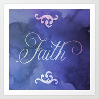faith Art Prints featuring Faith by Camille
