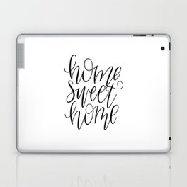Home Sweet Home, Handlettered, Black and White, Farmhouse Laptop & iPad Skin