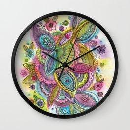 Fairground Paisley Wall Clock