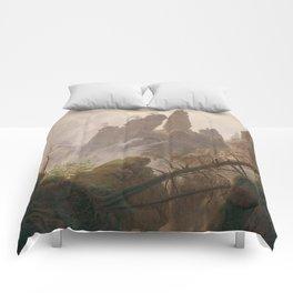 Caspar David Friedrich - Rocky Lanscape in the Elbe Sandstone Mountains Comforters
