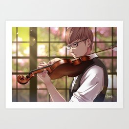 Ignis with Violin 2 Art Print