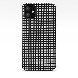 Black and White Gingham iPhone Case