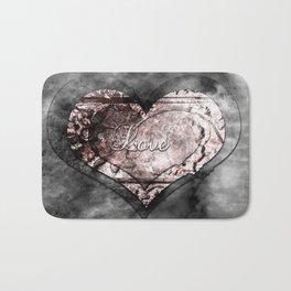 Ink Stamp Heart Bath Mat