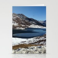 the mountains are calling Stationery Cards featuring Mountains are calling by Adeela Abdul Razak