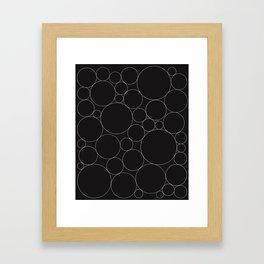 Circular Collage - Black & White I Framed Art Print