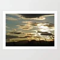 sundown reflections Art Print