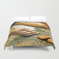 baking Duvet Covers featuring Baking Bread by BravuraMedia