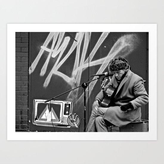 Busking in Belfast 2 Art Print