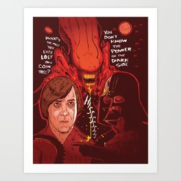 Movie Villians Art Print