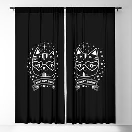cute black cat stars not sorry funny quote gift Blackout Curtain