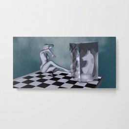 chess lady Metal Print