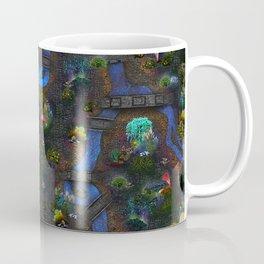 Game map for fantasy world Alien planet Pod's transmission game art Coffee Mug