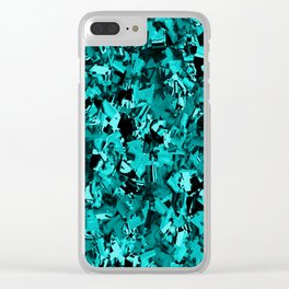 Turquoise Craze..... Clear iPhone Case