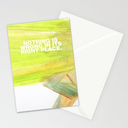 SUNDAYS ARE FOR SOULMATES / Nothing is wrong Stationery Cards