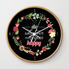 What makes you happy Wall Clock
