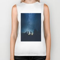 stars Biker Tanks featuring Follow the stars by HappyMelvin