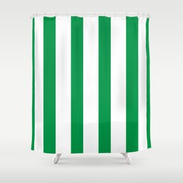Kelly Green Stripes Shower Curtain