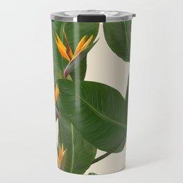tropical floral Travel Mug