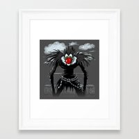 magritte Framed Art Prints featuring Ryuk Magritte by le.duc