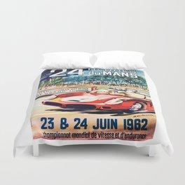 Le Mans 1962 vintage poster, Le Mans t-shirt, Le Mans poster Duvet Cover
