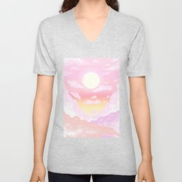 Pink light Unisex V-Neck