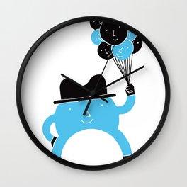 Blue-Boy Balloon Wall Clock