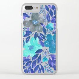 hand painted flowers_3 Clear iPhone Case