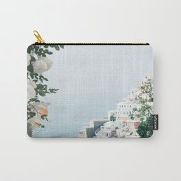 Positano landscape with white flowers Carry-All Pouch