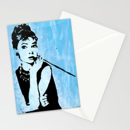 Audrey in Blue Stationery Cards