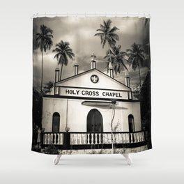 The Holy Cross Chapel of Anjuna, Goa, India Shower Curtain
