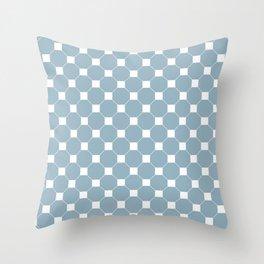Cadet Blue Seamless Octagon  Throw Pillow