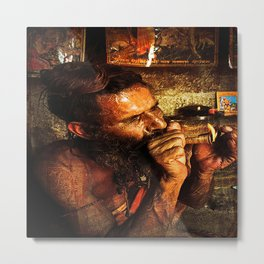 Indian Man Sadhu Metal Print