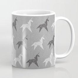 Origami Unicorn Grey Coffee Mug