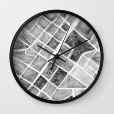 city plan Wall Clock