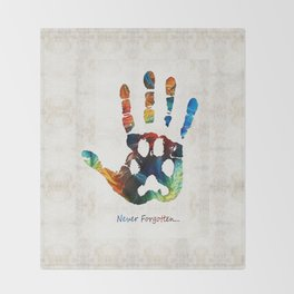 Rainbow Bridge Art - Never Forgotten - By Sharon Cummings Throw Blanket