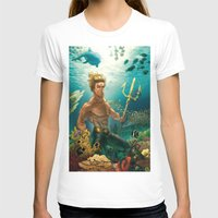 aquaman T-shirts featuring Aquaman Black Lagoon (Dark Water Version)  by Brian Hollins art
