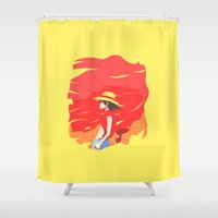 luffy Shower Curtains featuring Monkey D Luffy by Senior-X