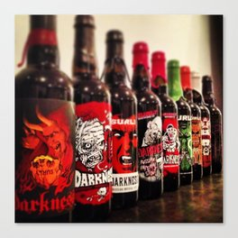 Craft Beer Lineup. Canvas Print