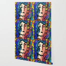 PopRainbow Girl Portrait Wallpaper