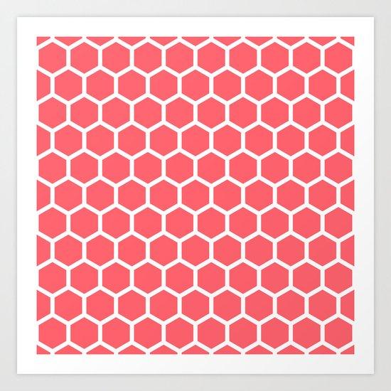 Honeycomb Coral Art Print