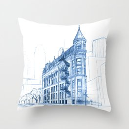 BluePrints | Gooderham Building - Toronto Throw Pillow
