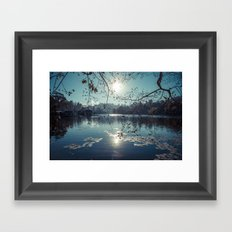 India - Blue lake Framed Art Print