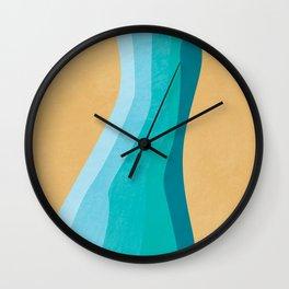 Coastal Hues - Minimal Organic Abstract Wall Clock