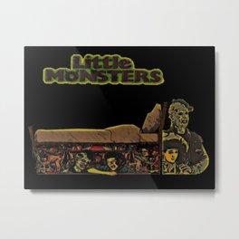 Monster Under Bed Metal Print