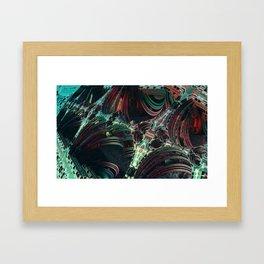 enterprise pattern fractal Framed Art Print