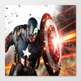 Man Of Captain In America Canvas Print