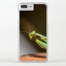 Praying Mantis Clear iPhone Case